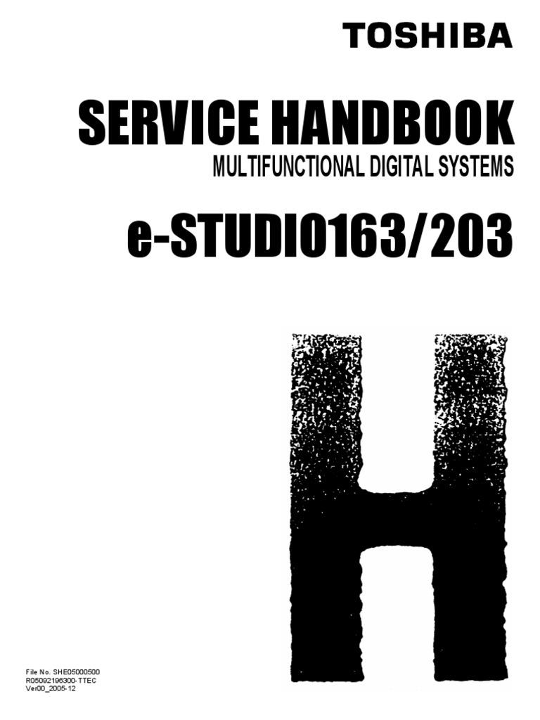 toshiba e studio163 203 service handbook