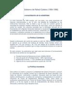 El Segundo Gobierno de Rafael Caldera