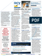 Pharmacy Daily for Thu 31 Jul 2014 - Pharmacies offer HIV test, Co-pay affects youths, Guild fires back on location, Cultural awareness and much more