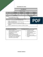 Programa FI3102 Fisica Moderna