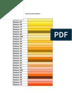 Carta de Colores Pantone Decoracion y Pintura JS