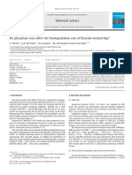 Do Phosphate Ions Affect the Biodegradation Rate of Fluoride-treated Mg