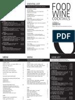 Opera Bar Wine List