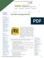 6 MSDS Seguridad y Salud en El Trabajo_ Hoja de Datos de Seguridad de Materiales
