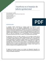 El Uso de Acarbosa en El Manejo de Diabetes Gestacional