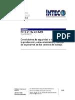 INTE 31-02-03-00 (explosivos)