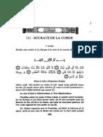 111 Sourate de La Corde