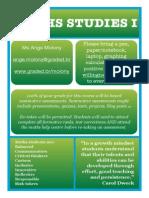 Studies Course Information 14/15