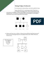 AP Biology Pedigree Problem Set1