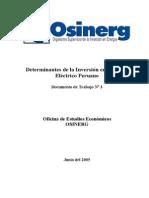 Determinantes de La Inversion en El Sector Electrico Peruano - DT03a-OEE-OSINERGa