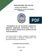 """""""Tratamiento de Los Efluentes Domésticos San Juan de Marcona"""