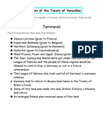 Lesson 2 - Terms of the Treaty of Versailles