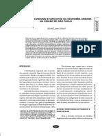 Finanças, Consumo e Circuitos Da Economia Urbana