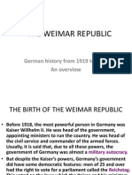 Weimar Republic - birth & three phases overview (1919-1933)