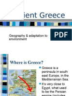Ancient Greece - Geography and adaptation to environment