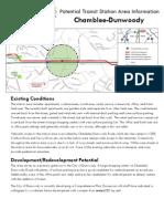 Potential Transit Station Area Information
