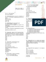 Exercicios Extras Matematica - Conjuntos e Funcoes