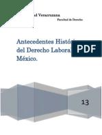 Antecedentes Históricos Del Derecho Laboral en México