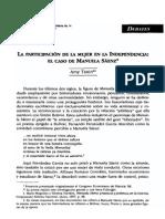 La Participacion de Manuelita en La Independencia