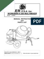 Imer Cement Mixer Workmanii250