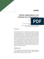 Teorias Organizativas y Los Sistemas de Control Interno