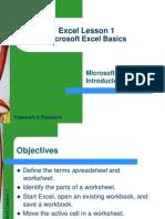 Excel Lesson 01