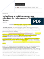 India_ Green Growth is Necessary and Affordable for India