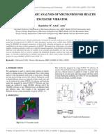 Multibody Dynamic Analysis of Mechanism for Health Excescise Vibrator