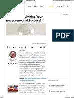 Is Your Brain Limiting Your Entrepreneurial Success_ _ Entrepreneur