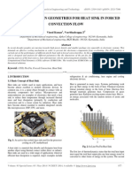 Simulation of Fin Geometries for Heat Sink in Forced