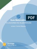 Ecuaciones No Algebraicas
