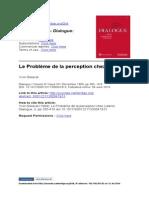 Le Problème de La Perception Chez Leibniz