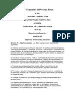 Ley General de La Persona Joven (Nº 8261)