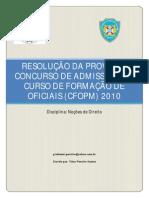 Prova de Direito CFO PMBA 2010 Resolvida - Blog Abordagem Policial