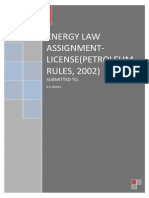 Energy Law Assignment