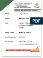 Serial Communication Based on Embedded System