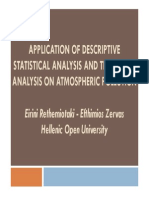 05-2012 - DeE12 - Application of Descriptive Statistical Analysis and Time Series