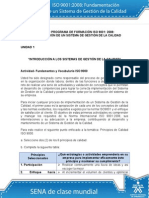 Fundamentos y Vocabulario Iso 9000