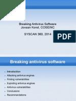 2014 Breaking AVSoftware Joxean Koret