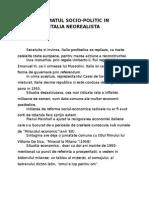 Cinema- Climatul Socio Politic in Italia Neorealista