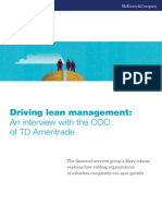 Driving Lean Management an Interview With the COO of TD Ameritrade