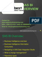 SAS BI online training | SAS BI Training in Hyderabad India | SAS BI Project support
