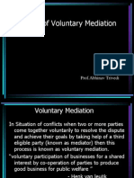 Theory of Voluntary Mediation