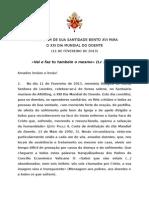 Dia Mundial Do Doente 2013 - Mensagen Bento XVI