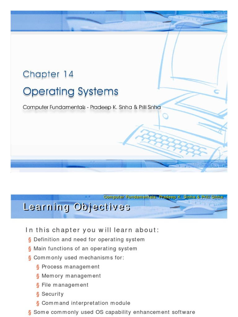Chapter 14 Operating System Process Computing Thread Computing