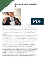 La Visione Di Rifkin Per Il Semestre Italiano Di Presidenza UE