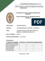 """""""Diagnóstico de Los Ejes Directivos de La Empresa """"Autoservicio Rojasa s.r.l"""""""