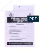 Dps Talent Exam Papers 2013-2014