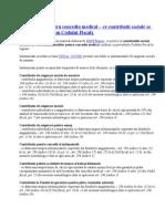 Calcul Contributii- Concedii Medicale