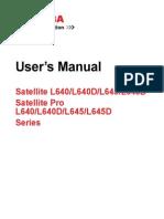Toshiba Satellite L640 User guide